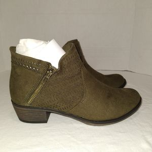 American Rag Olive Green Ankle Boots